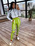 Женский спортивный костюм со светоотражающим бомбером и яркими штанами 66051058Е, фото 3
