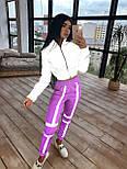 Женский спортивный костюм со светоотражающим бомбером и яркими штанами 66051058Е, фото 2
