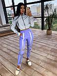 Женский спортивный костюм со светоотражающим бомбером и яркими штанами 66051058Е, фото 4