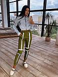 Женский спортивный костюм со светоотражающим бомбером и яркими штанами 66051058Е, фото 6