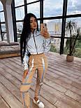 Женский спортивный костюм со светоотражающим бомбером и яркими штанами 66051058Е, фото 9