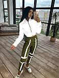 Женский спортивный костюм со светоотражающим бомбером и яркими штанами 66051058Е, фото 7