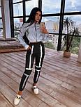 Женский спортивный костюм со светоотражающим бомбером и яркими штанами 66051058Е, фото 8