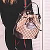 Рюкзачок - сумка из эко-кожи светло - коричневого цвета