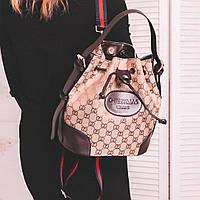 Рюкзачок - сумка из эко-кожи светло - коричневого цвета, фото 1