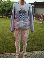 ( 48 р ) Флисовый домашний теплый комбинезон костюм пижама кигуруми