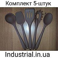 Набор силиконовых кухонных принадлежностей 5 шт Коричневый