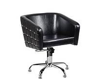 Крісло перукарське Glamour на пневматиці з хромованою хрестовиною