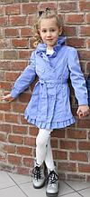 Детский плащ для девочки весеннее BRUMS Италия 141BGAA001 Сиреневый весенний осенний демисезонный 152