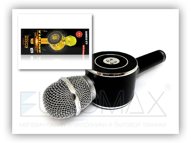 Микрофон караоке с подсветкой (цвета) 40шт WS668