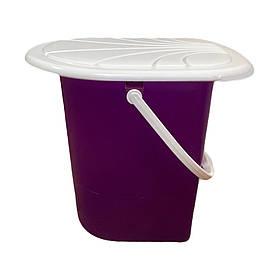Ведро туалетное Консенсус фиолетовый 17 л