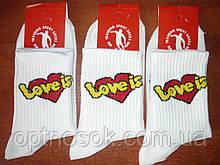 """Подростковые носки с надписью """"Love is"""". Высокая резинка. р. 36-40."""