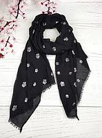 Тонкий шарф Fashion Асия из вискозы 180*80 см черный