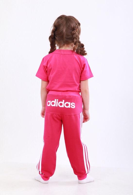 Штаны для девочки с лампасами принт Adidas