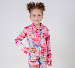 Детский пиджак для девочки Верхняя одежда для девочек Pezzo D'oro Италия FK52915 128