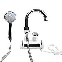 Бойлер кран с экраном + душ (БОКОВОЕ), фото 1