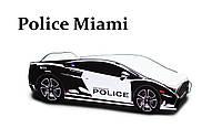 Детская кровать машина спорт кар Police черно белая( спальное место 70*150 см), фото 1