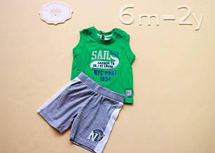 Детские шорты для мальчика Melby Италия 74041390 Серый 80