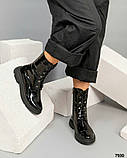 Лаковые ботинки женские черные, фото 3