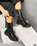 Лаковые ботинки женские черные, фото 4