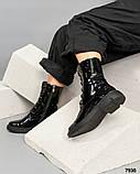 Лаковые ботинки женские черные, фото 2