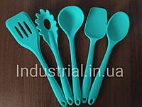 Набор силиконовых кухонных принадлежностей 5 шт Мятный