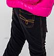 Детские брюки для девочки BRUMS Италия 143BGBM006 черные, фото 2