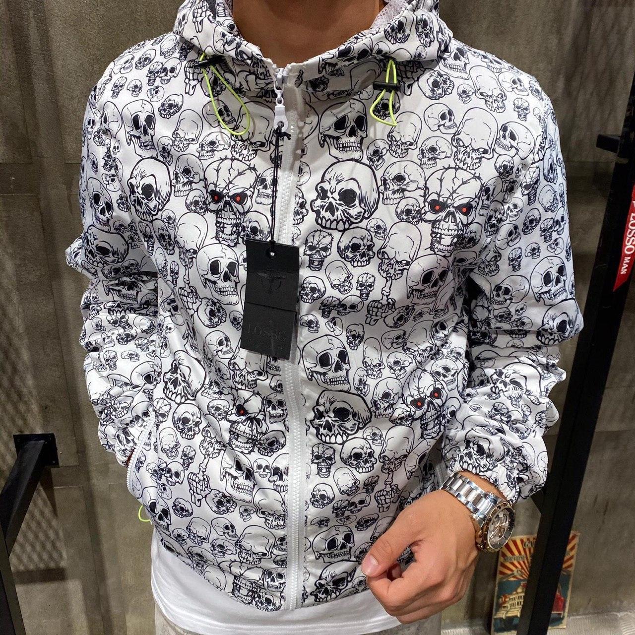 Ветровка - Мужская куртка ветровка на осень белая