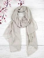 Тонкий шарф Fashion Асия из вискозы 180*80 см серый