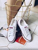 Белые кеды из обувного текстиля з резиновым носочком ( ящ ), фото 1