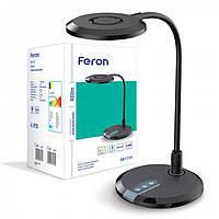 Настольный светодиодный светильник  Feron DE 1731 8W,  3000К - 4000К - 6000К. Черная., фото 1