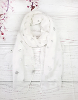 Тонкий шарф Fashion Асия из вискозы 180*80 см белый