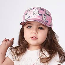 Дитяча кепка для дівчинки Одяг для дівчаток 0-2 Dembo House Україна МІРТА Рожевий 48