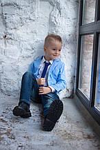 Детский нарядный пиджак для мальчика MANAI Италия BF009KBГолубой