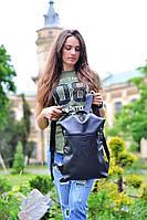 Чорний рюкзак міський, фото 1