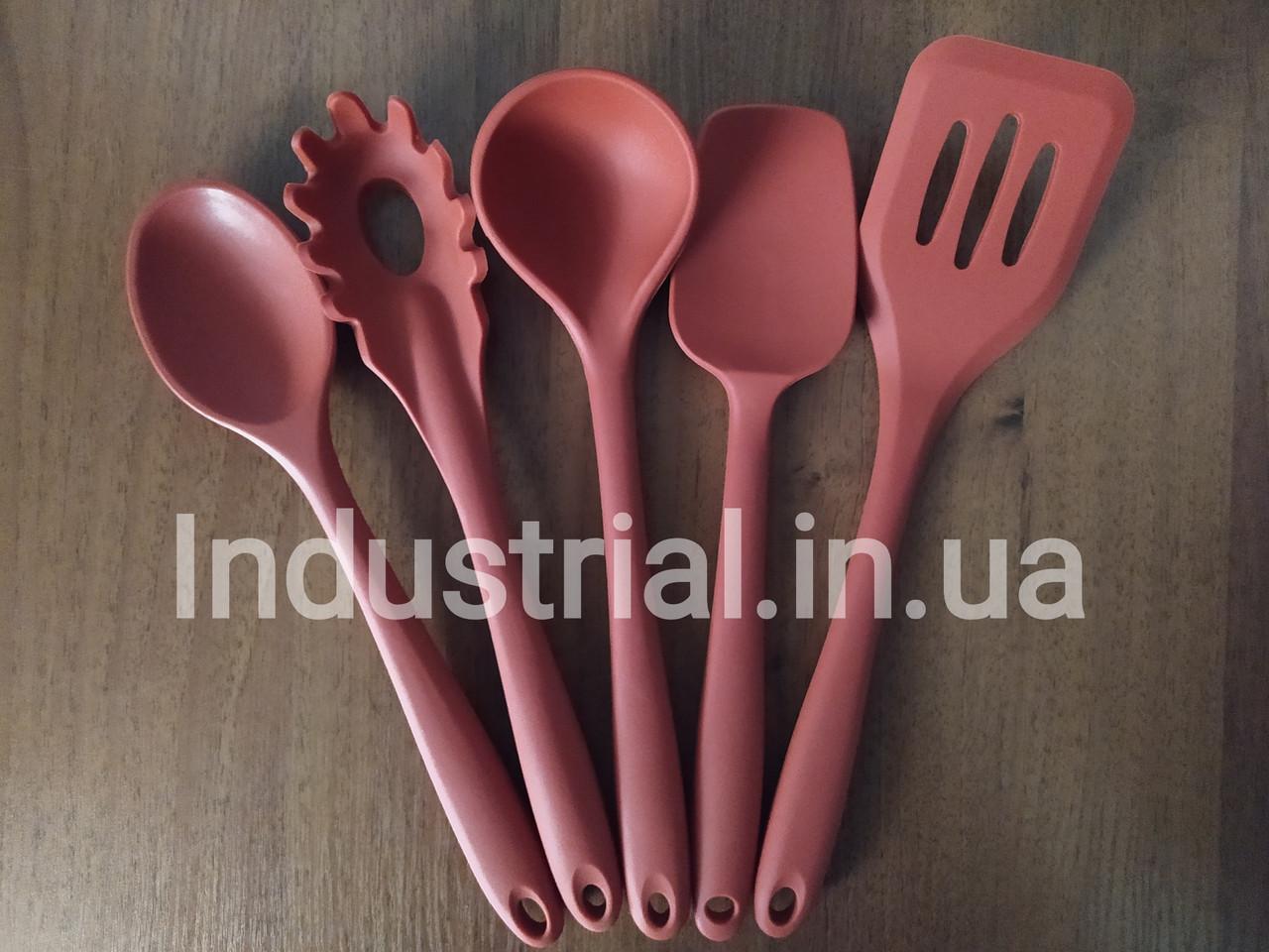 Набор силиконовых кухонных принадлежностей 5 шт Красный
