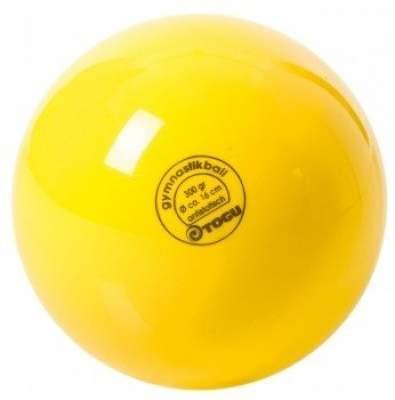 М'яч для художньої гімнастики TOGU 300 г 16см Жовтий ТОГУ 430403
