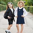 Школьный сарафан для девочки Школьная форма для девочек SILVER-SPOON Италия SS13G-1707-040 синий, фото 2