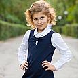 Школьный сарафан для девочки Школьная форма для девочек SILVER-SPOON Италия SS13G-1707-040 синий, фото 3