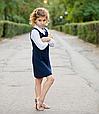 Школьный сарафан для девочки Школьная форма для девочек SILVER-SPOON Италия SS13G-1707-040 синий, фото 4