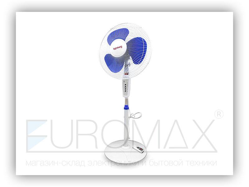 Вентилятор напольный Rainberg 34см 40Вт 3 пласт. лоп. пульт FS-1608R