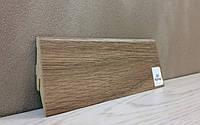 Плинтус МДФ напольный под дерево Дуб Нортленд 19*52*2800мм., светло-коричневый матовый
