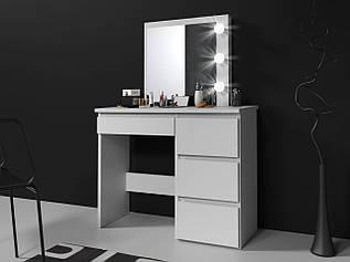 Туалетний столик із дзеркалом та підсвічуванням Homart 3 LED білий (9285)