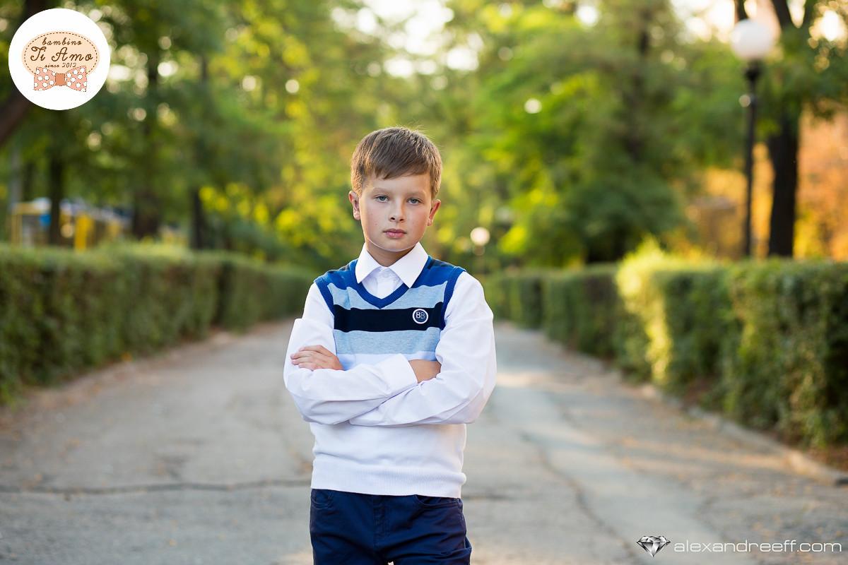 Детский жилет для мальчика Школьная форма для мальчиков Byblos Италия BU0918 сине-белый 152, 1511