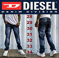 Мужские синие джинсы тертые осенние Diesel (Дизель).