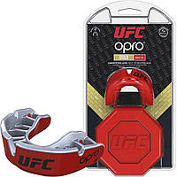 Капа OPRO Gold UFC Hologram Red Metal/Silver (art.002260002), фото 1