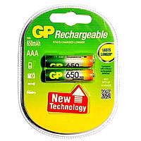 Аккумуляторы GP R3/AAA 650 mAh (Блистер 2 батарейки)