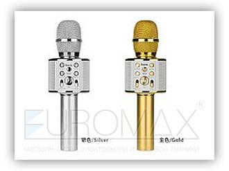 Микрофон караоке с подсветкой (цвета) Hoco 20шт BK3