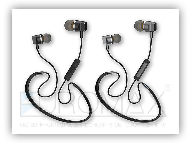 Наушники вакуумные с микрофоном Bluetooth магнит 200шт AZ-33A-BT