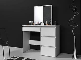Туалетний столик із дзеркалом Homart білий (9286)